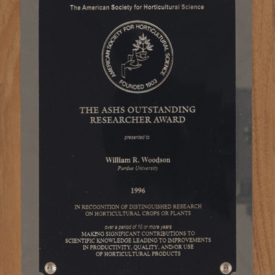 ASHS Researcher Award