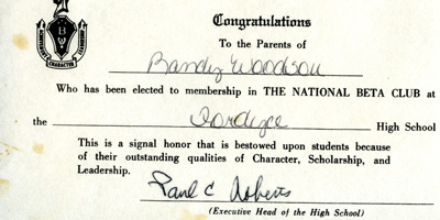 Certificate Fordyce High School