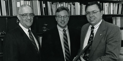 Bill Bumgartner, Randy Woodson, and Vic Lectenburg