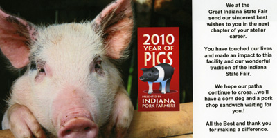 Best wishes from the Indiana State Fair