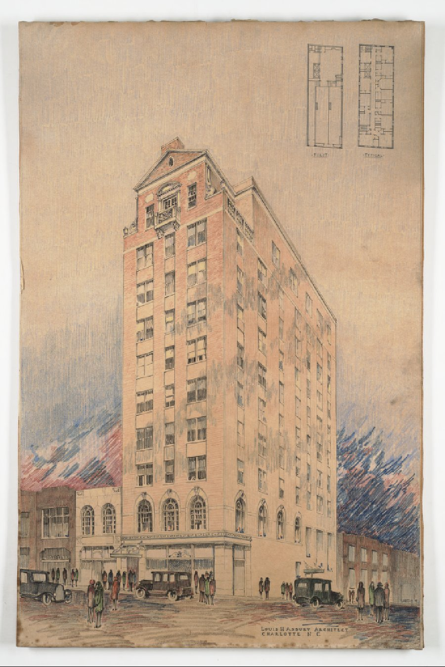 Matheson Hotel Apartments, Louis Asbury, Beaux-Arts to Modernism