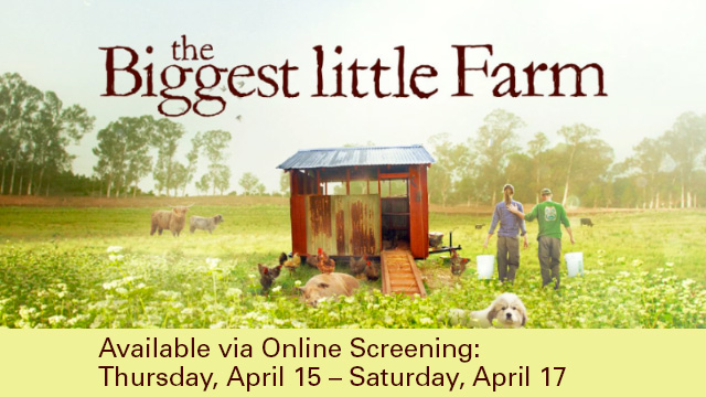 Image of Biggest Little Farm film cover.
