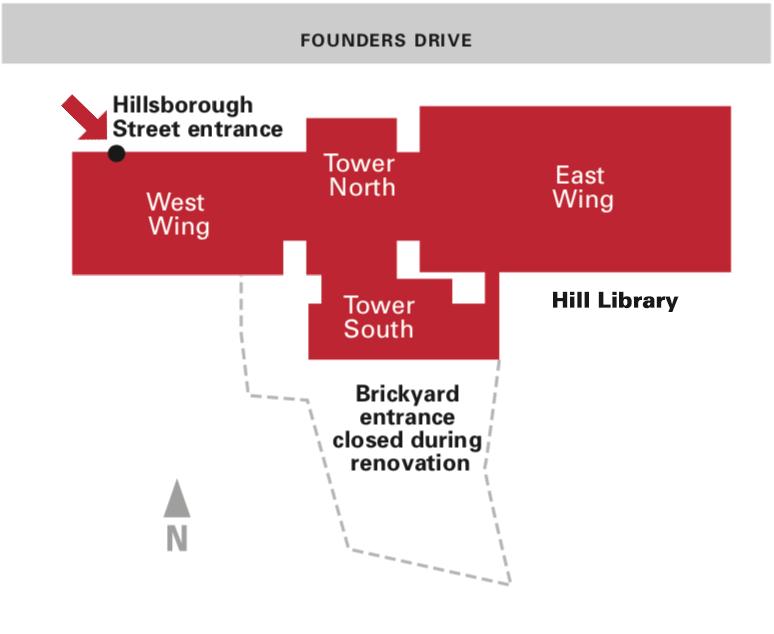 Hillsborough Street — new entrance