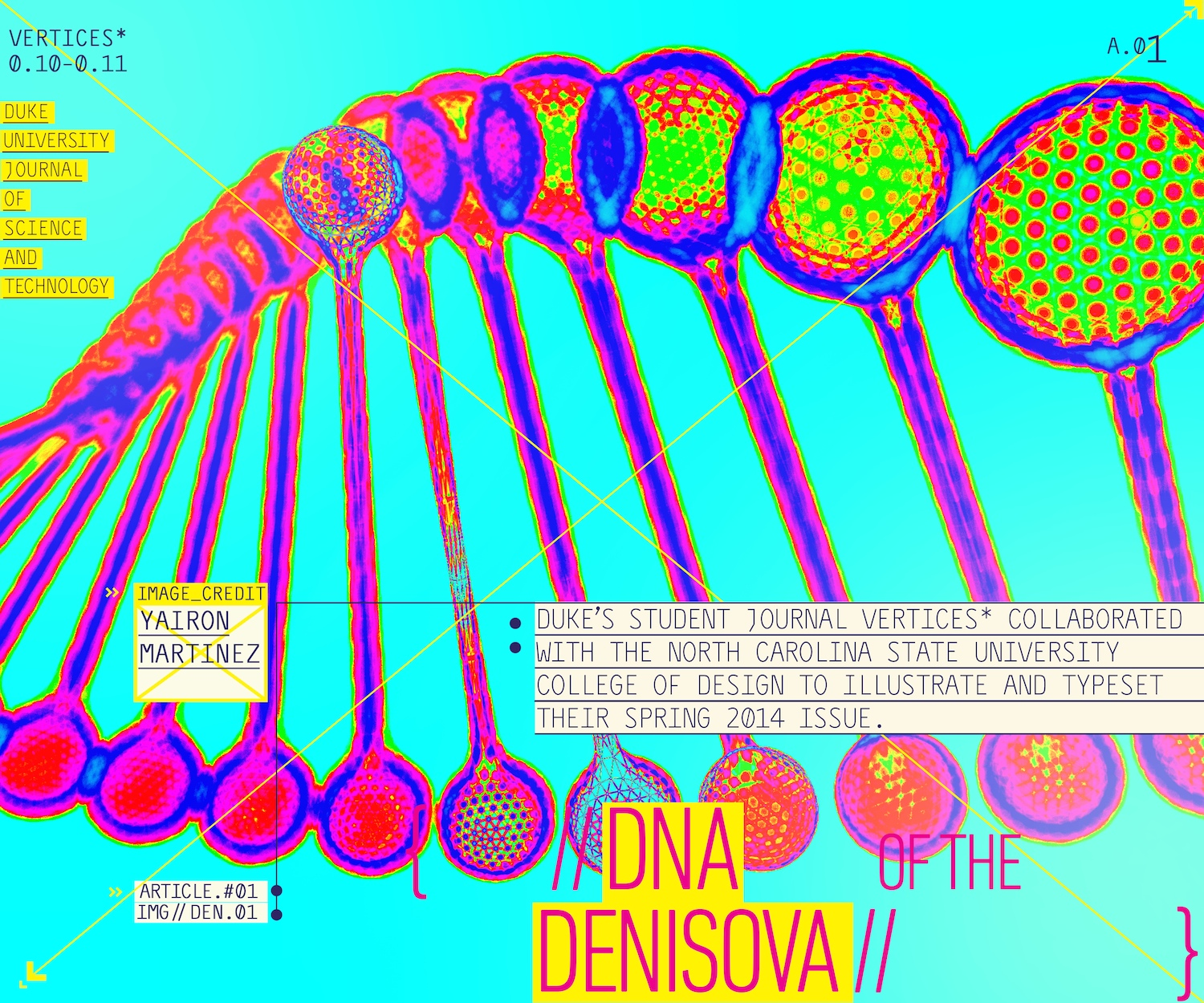 Illustration of DNA from student journal Vertices