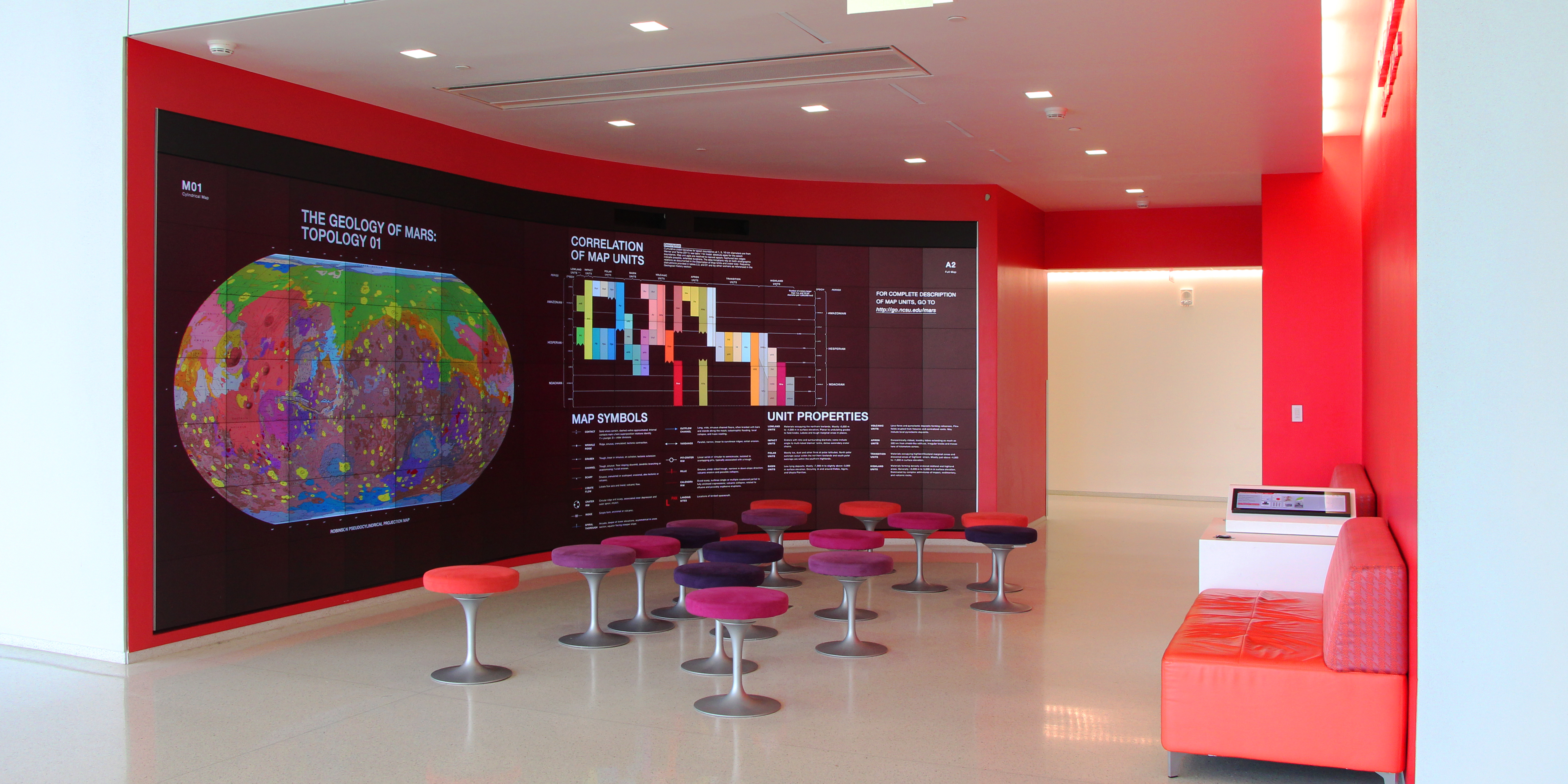 iPearl Immersion Theater with global geologic map of Mars
