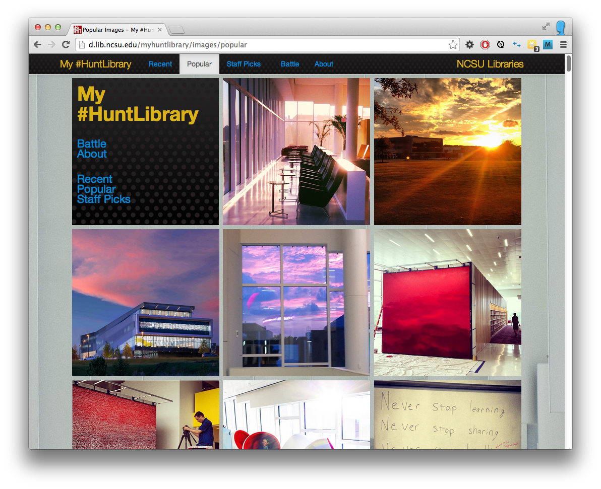 Image of My #HuntLibrary