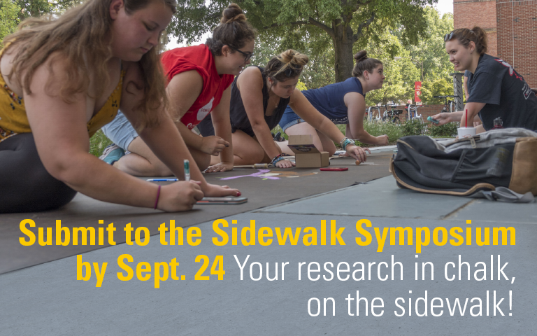 Submit to the Sidewalk Symposium by Sept. 24  Your research in chalk, on the sidewalk!