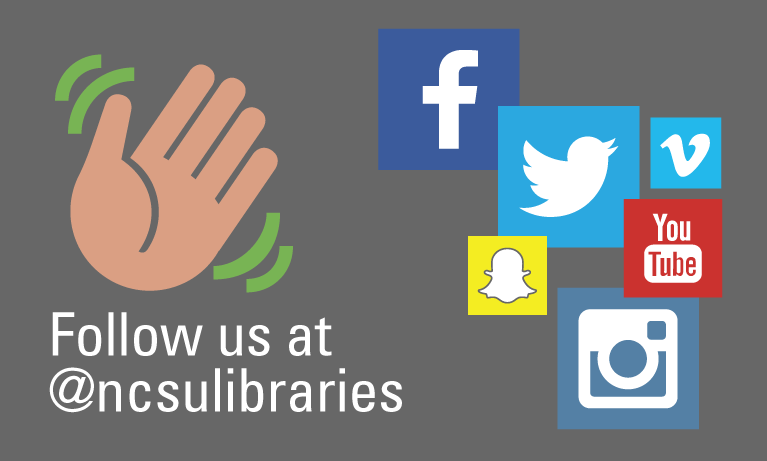 Follow us @ncsulibraries