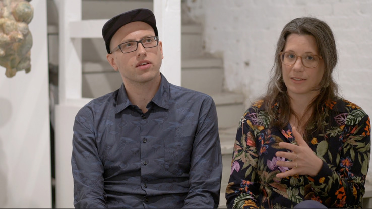 Caitlin Foley and Misha Rabinovich, photo courtesy of the Boston Art Review