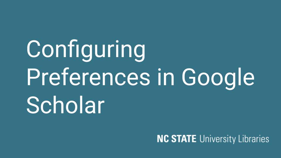 Thumbnail for configuring google scholar video