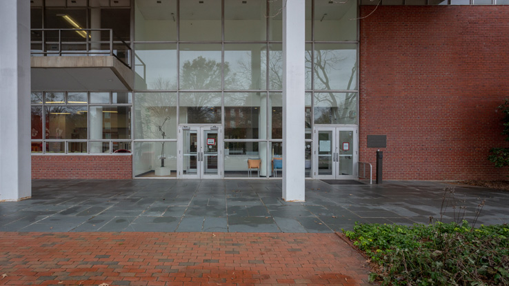 Hill Library's Hillsborough Street entrance