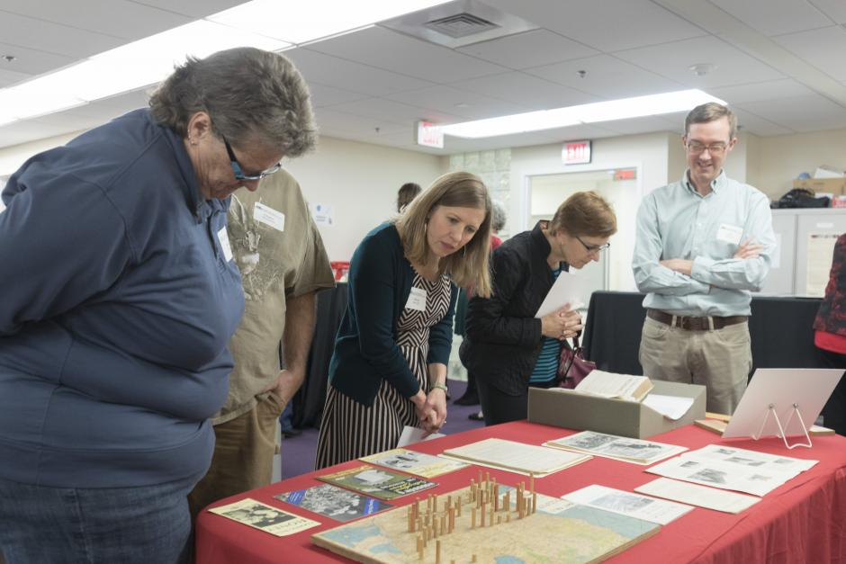Guests view highlights from our Manuscript Collections, selected by Gwynn Thayer.