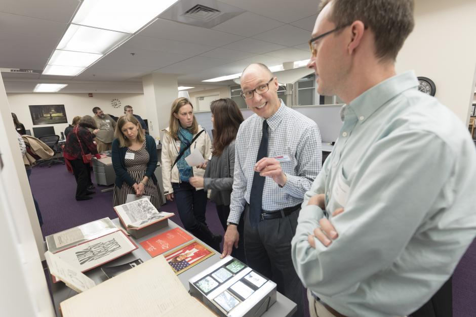 Todd Kosmerick discusses examples of the range of material included in the University Archives.