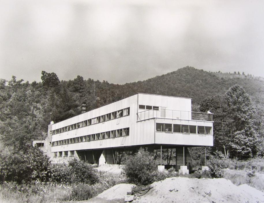 Studies Building at the Black Mountain College Lake Eden campus.