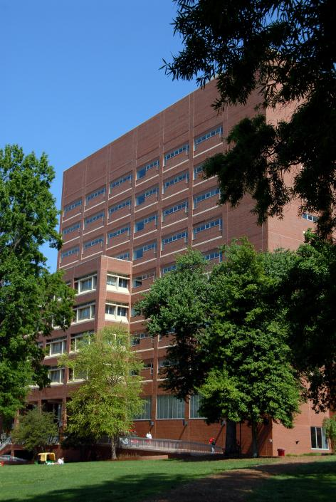 In 1990, the 11-story Bookstack South Tower is added to the D. H. Hill Library, greatly expanding shelving space
