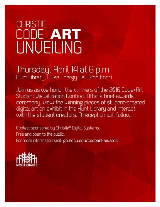 Code Art Unveiling Flyer