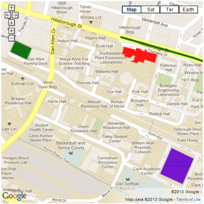 Ncsu Parking Map Directions & Parking | NC State University Libraries