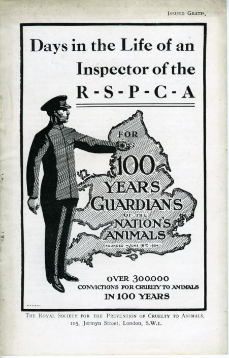 """Days in the Life of an Inspector of the RSPCA,"" undated, from the Animal Rights and Animal Welfare Pamphlets (MC 456)"