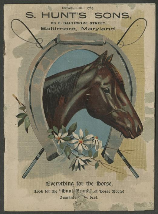 Illustrated catalogue and price list of horse boots, by S. Hunt's Sons (1891)