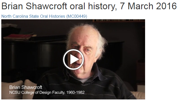 Brian Shawcroft Oral History Interview, 7 March 2016