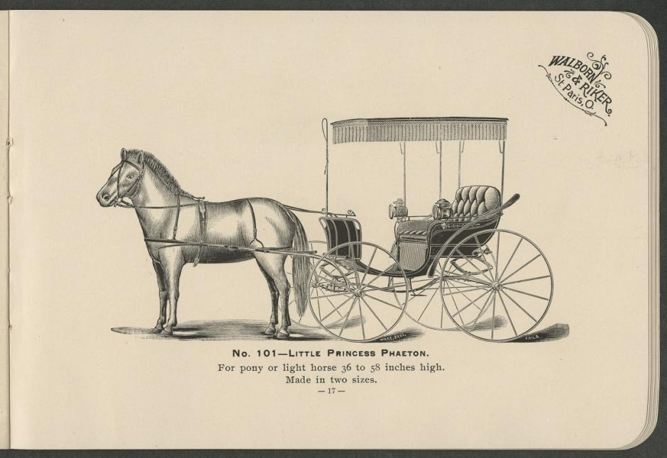 Pony and light horse specialties, by Walborn & Riker (1896)