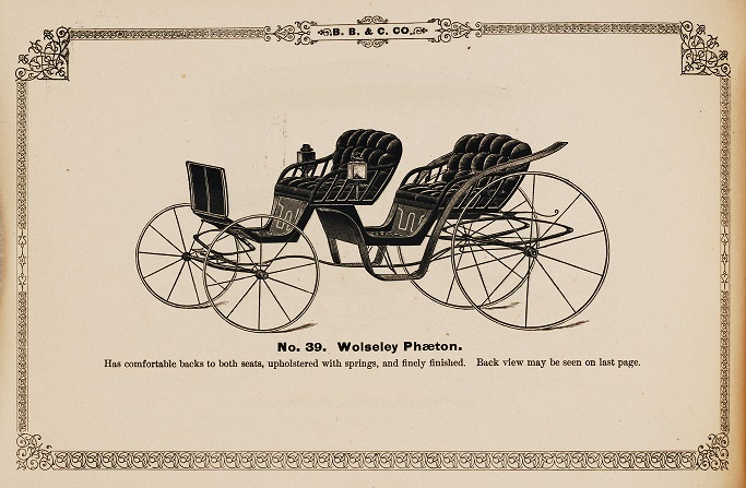 manufacturers of fashionable carriages, by Boston Buckboard and Carriage Co. (1873)