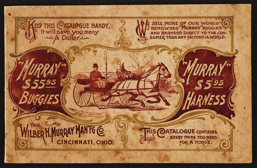 Murray, everything you need for a horse is contained in this catalogue, by Wilber H. Murray Manufacturing Co. (1905)