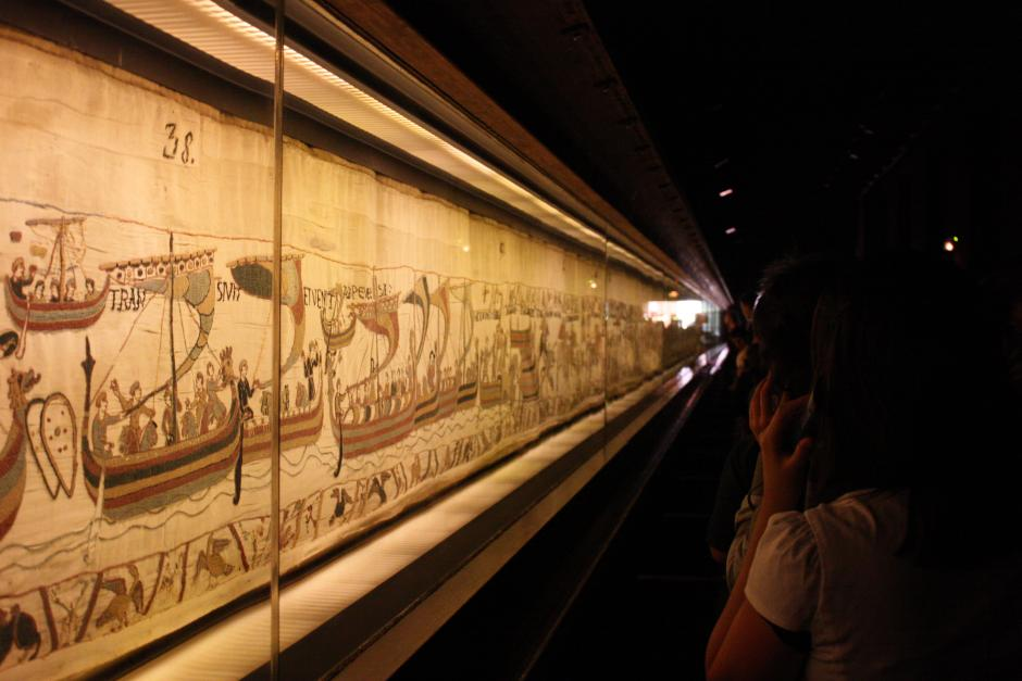 The Bayeux Tapestry at it's home in Normady, France