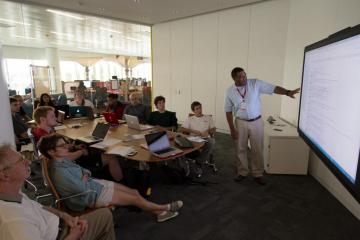 Teaching in the Fishbowl at Hunt Library