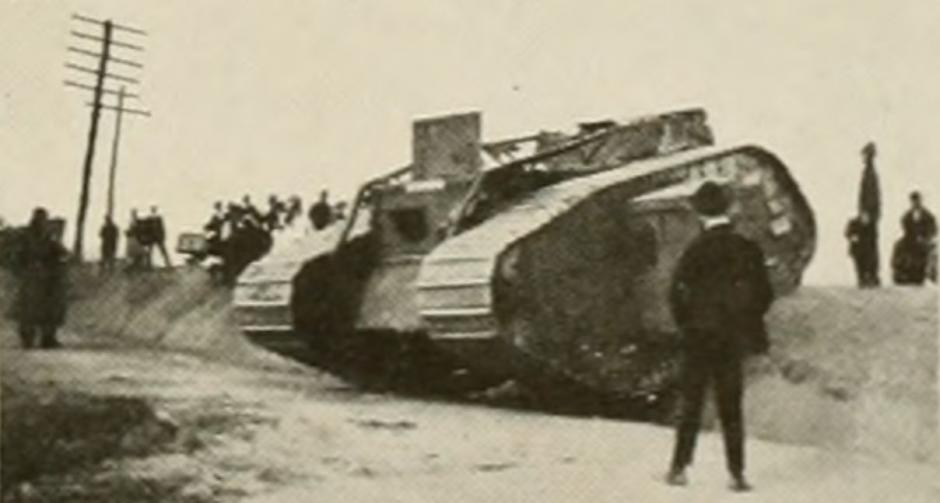 Tank demonstration at Camp Polk (photo from the 1919 Agromeck)