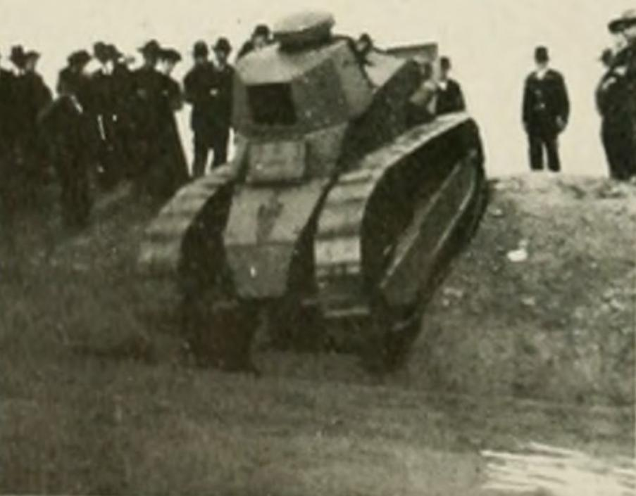 Demonstration of French FT-17 tank at Camp Polk (photo from 1919 Agromeck)