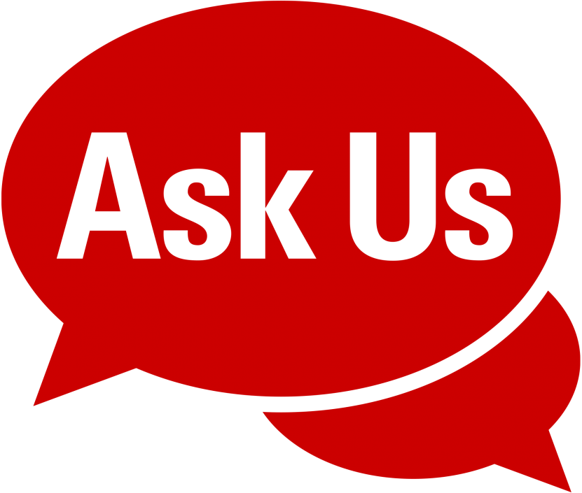 red Ask Us logo
