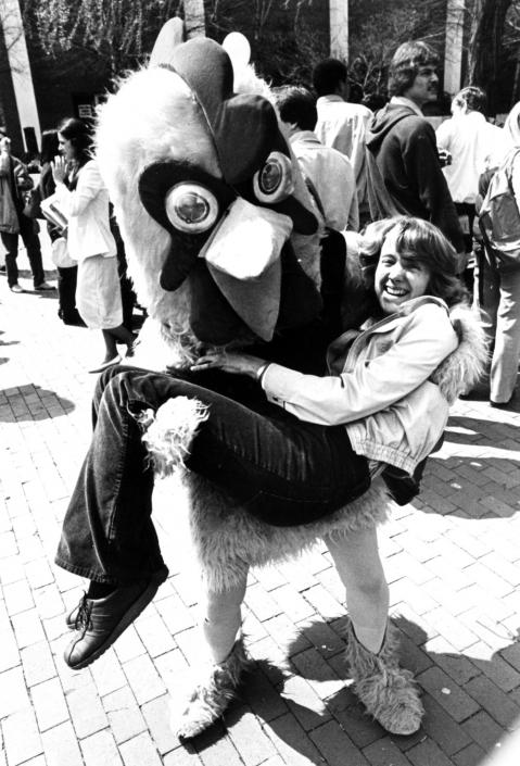 The legendary love story of a college student and a giant chicken, circa 1980