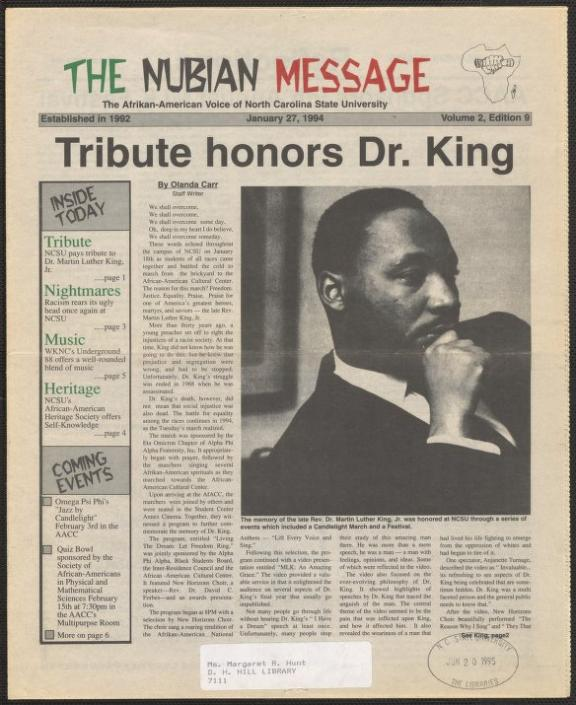 Nubian Message, January 27, 1994