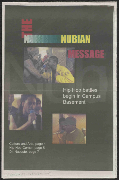 Nubian Message, September 27, 2001