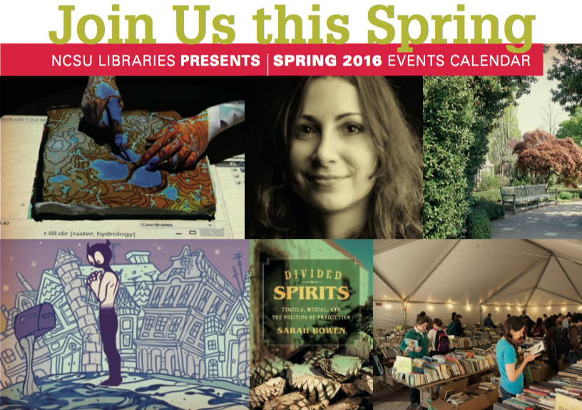 Spring 2016 NCSU Library Events graphic