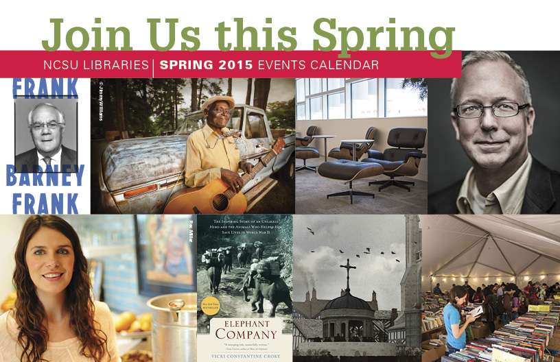 Spring 2015 NCSU Library Events graphic