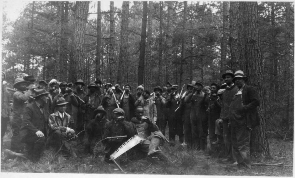 A farm forestry extension meeting in Halifax County, North Carolina, 1929