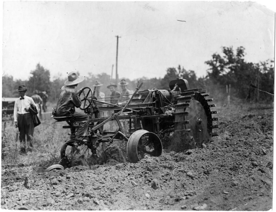 A Moline tractor used on the NC State college farm in the 1910s