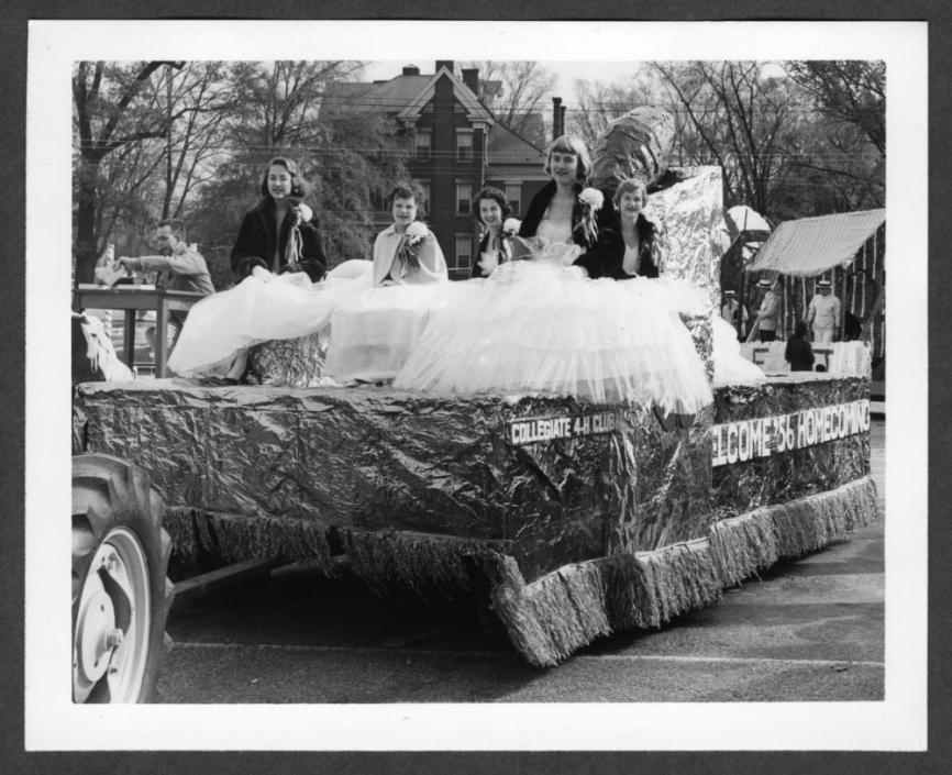 4-H Club float for the NCSU Homecoming Parade, November 1956