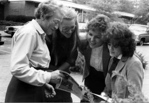 Katherine Stinson with three students.