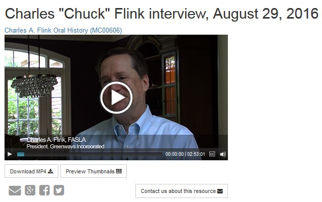 Oral history interview with Chuck Flink