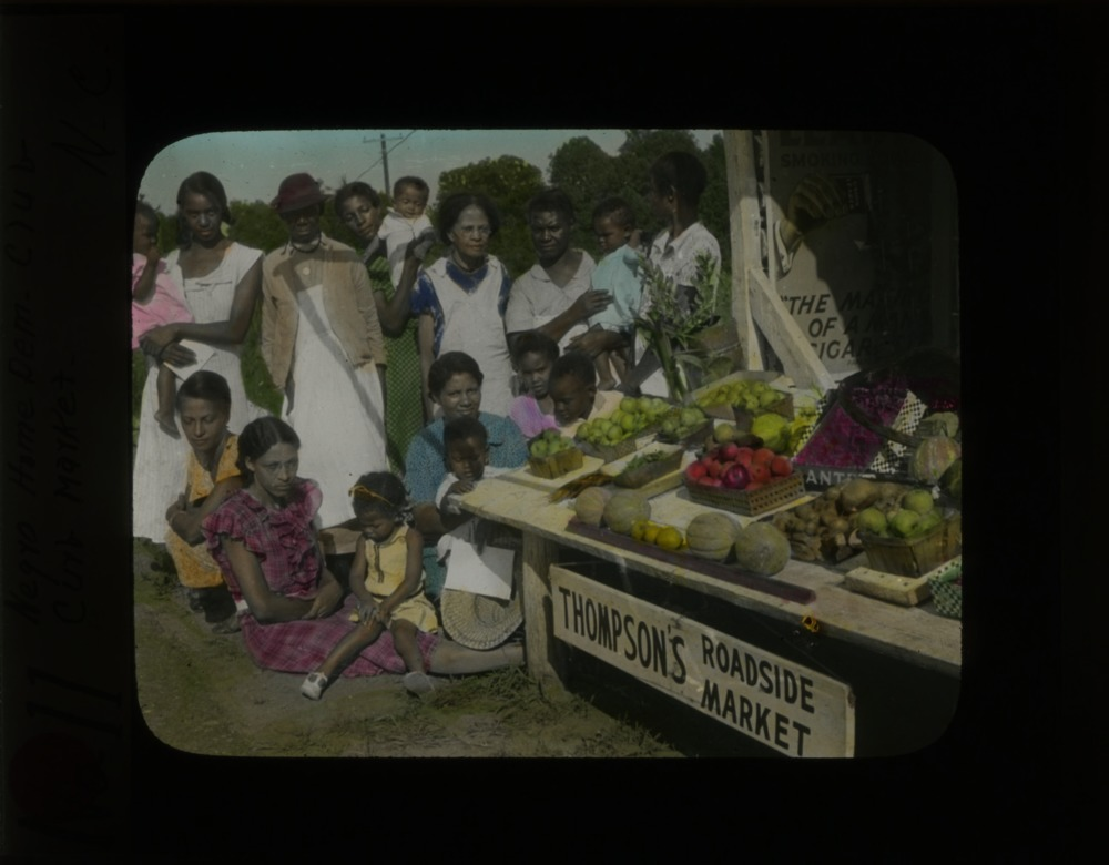"""African American Home Demonstration Club at Thompson's Roadside Market"""