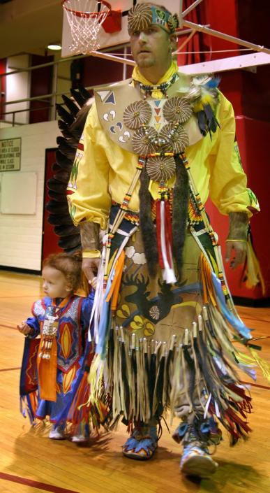 Father-Daughter Dance at the Pow Wow, 2007  or 2008