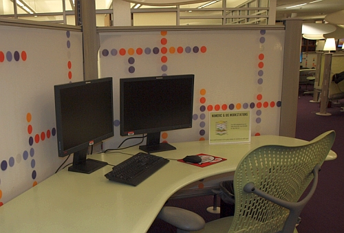 GIS workstation in the Reference area