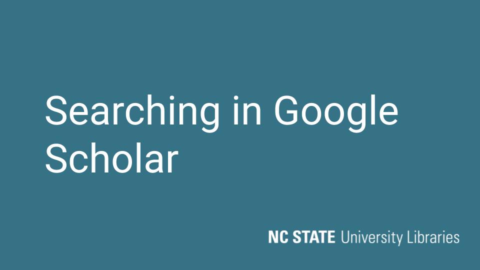 Thumbnail for google scholar video