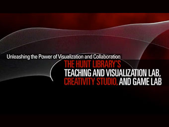 still from the Unleashing the Power of Visualization and Collaboration at the Hunt Library