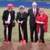 Chancellor Woodward, Susan Nutter and Friends of the Library Board break ground, October 23, 2009.