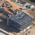Aerial view of the James B Hunt Jr. Library building site, November 2010.