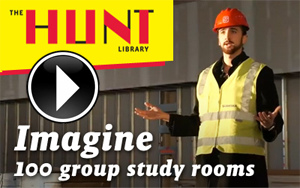 100 bookable group study rooms in the Hunt Library